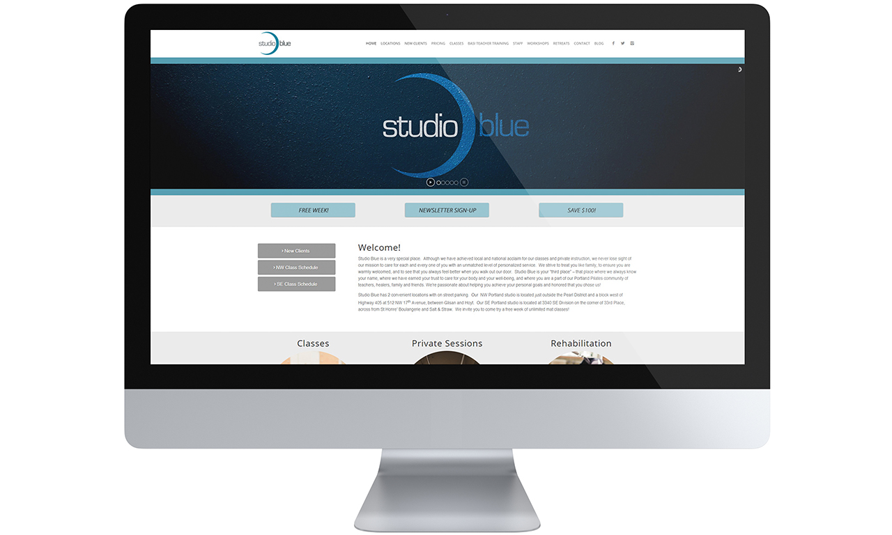 Studio Blue Website