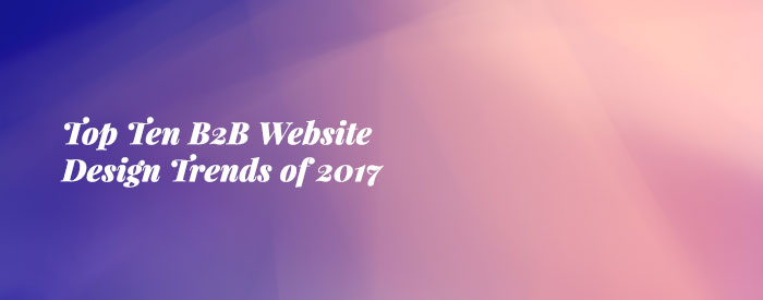 Top Ten B2B Website Design Trends of 2017