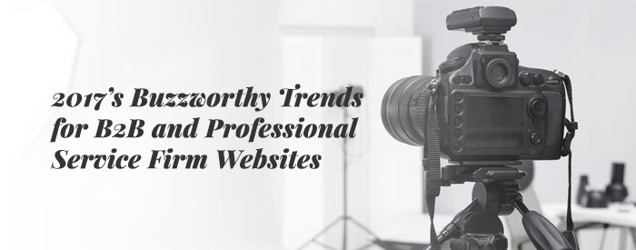 2017's Buzzworthy Trends for B2B and Professional Service Firm Websites
