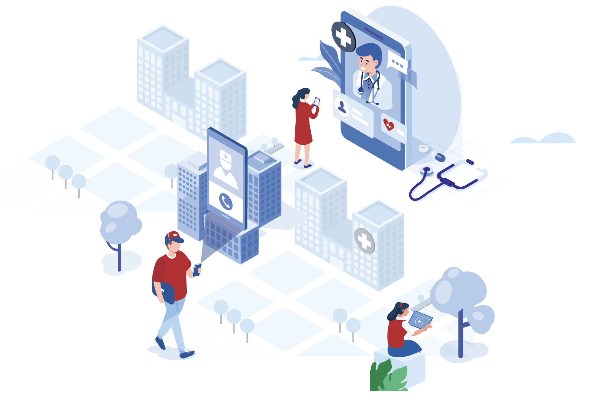 Telemedicine infographic illustration for Providertech